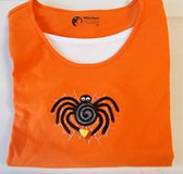 Black Spider Candy Corn Long Sleeve T-shirt Women's Small