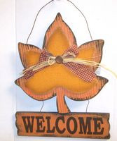 Maple Leaf Welcome Sign Wall Decor NWT