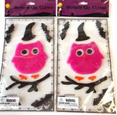 Owl Bats Halloween Fall Window Gel Clings Lot 2 NIP
