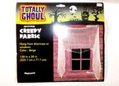 Beige Creepy Fabric Gauze Drape Doorway Windows 128 x 28 Inch NIP
