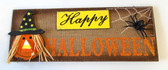 Happy Halloween Wood Table Decor Witch Spider 17' NWT