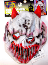 Red Horned Freak Devil Costume Mask NWT