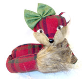 Mrs. Fox Red Plaid HolidayTable Decor 10' NWT