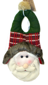 Santa Face Fabric Christmas Door Hanger 19' NWT
