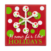 Red Home for the Holidays Plaque Polka Dot Sign 11' Home Decor NeW