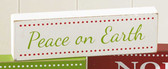 Peace on Earth Sign Wooden White Green 6' Home Decor NeW