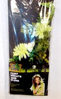 Fairy Hair Wreath Headband and Wand Set Green Gerbera NIP