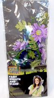 Fairy Hair Wreath Headband and Wand Set Purple Gerbera NIP