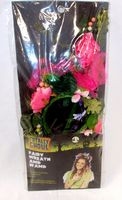 Fairy Hair Wreath Headband and Wand Set Pink Peony NIP
