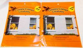 "Creepy Corner Creatures Orange Monster Window Decorations Reusable 14"" 2 Packages NWT"