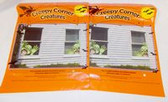"Creepy Corner Creatures Green Monster Window Decorations Reusable 14"" 2 Packages NWT"