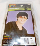 Surfer Black Wig Short Mens Adult One Size Fits Most 3+ NIP
