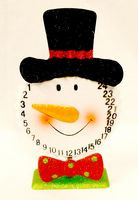 "Snowman Christmas Countdown Tin Glittered Christmas Decor 10.25"" NWT"