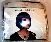 Vampire Bob Blue Costume Wig OSFM Adults NIP