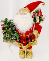 "Santa Standing Kris Kringle With Tree Santa Bag 28"" NWT"