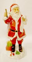 "Santa Red White Tabletop Resin Vintage Look Checking List 10"" NWT"