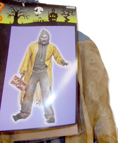 Zombie Walker Adult Costume Mask Sign OSFM NWT