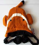 "Orange Clown Fish Nemo Sea Life Knit Fleece 16"" Hat Child Costume Hat 5-8 NWT"