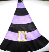 Halloween Purple Black Felt Witch Hat OSFM 8+ NWT