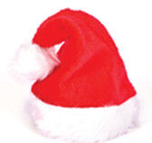Santa Hat Plush Fur Adult Costume Dress-up NWT