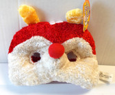 Red White Bug Mask Yellow Antennae NWT
