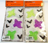 Ghost Bat Halloween Gel Clings Cling Window Mirror Decor Lot 2 NIP