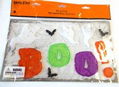 Glitter Boo Ghosts Halloween Gel Clings Window Mirror Decor  NIP