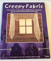 Cream Creepy Gauze Fabric Window Door Halloween Decor NIP
