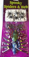 Halloween Spooky Spiders and Web Lot 11 NWT