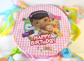 "Doc McStuffins Birthday Party Pinata Custom 15"" NEW"