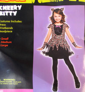 Cheery Kitty Child Costume Dress Headband Small NIP