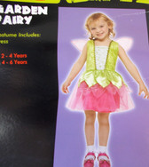 Garden Fairy Green Pink Child Costume Dress 2-4 Years NIP