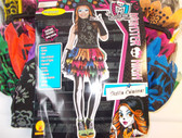 Monster High Skelita Calaveras Child Costume Mask 4-6 NIP