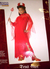 Red Devil Girl Girls Costume Dress-up NWT 6-8