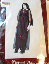 Eternal Vampira Child Costume Dress Medium 8-10 NIP