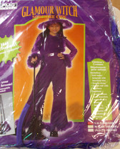 Glamour Witch Purple Chic Child Costume Dress Small 6-8 NIP