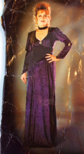 Gothic Madame Purple Dress Broach Adult Costume S M NIP