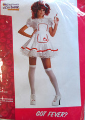 Got Fever Nurse Costume Teen Size Junior 3-5 NIP