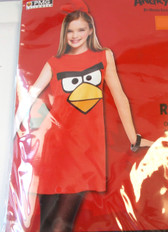Angry Birds Red Bird Child Costume 10-12 NWT