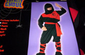 Ninja Black Red Boys Costume Deluxe NWT Small 4-6