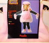 Pink Poodle Plush Costume Child S 1-2 NWT