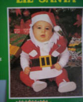 Bonnet and Bib Set Lil' Santa Costume Christmas Pictures NWT