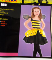 Bumblebee Bumble Bee Child Costume Wings Headband Medium 8-10 NIP
