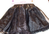 "Black Layered Tutu Petticoat Child OSFM 14"" NWT"