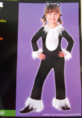 Black Kitty Child Toddler Costume Jumpsuit Ears 2T-4T NIP