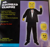 Mr. Blockhead Vampire Adult Costume OSFM NIP