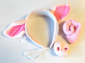 Pig Headband Tail Snout Nose Dress-up Costume Party Favor NIP
