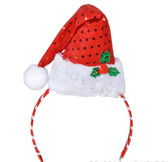 Santa Helper Elf Headband Red Sequin Green Costume OSFM NWT