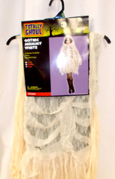 Gothic Mummy  Cream Gray Lace Womens M L NWT