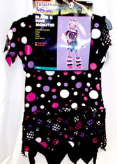 Black Pink Monster Polka Dot Child Teen Costume L Junior NIP